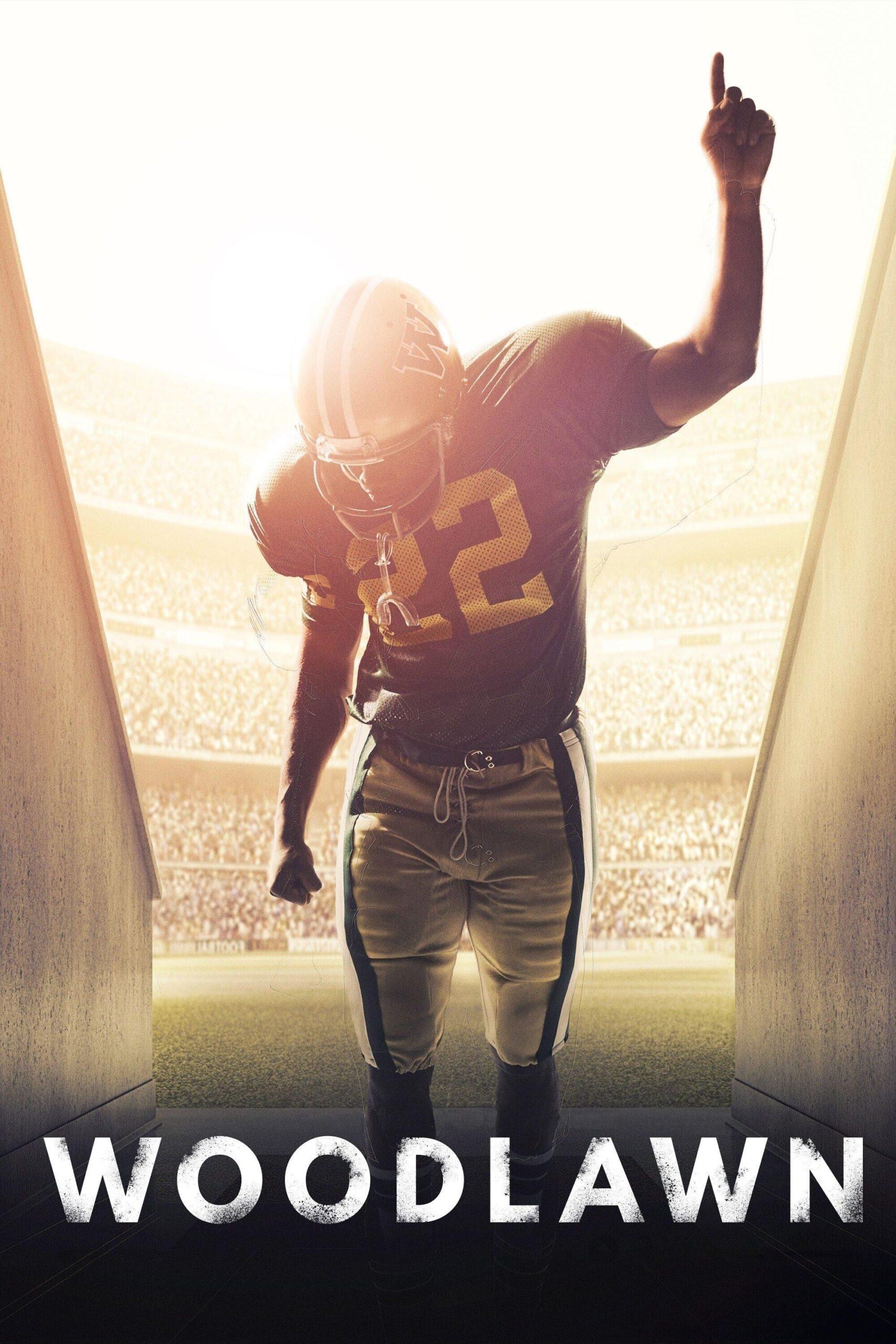 imagem capa do filme Talento e Fé - jogador no campo com camisa número 22 apontando o dedo indicar para o céu