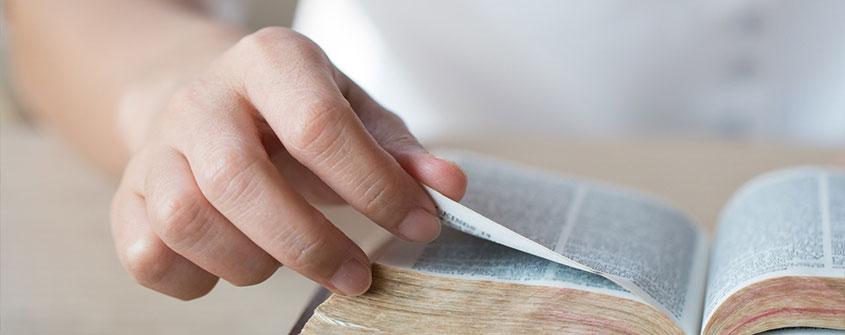 imagem de homem estudando a Bíblia